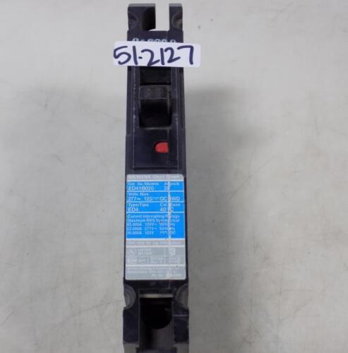 SIEMENS 20AMP 1 POLE CIRCUIT BREAKER  ED41B020