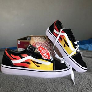 vans flame old school