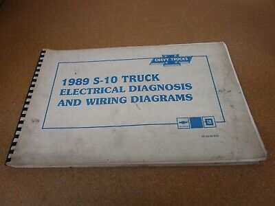 1989 Chevrolet S-10 pickup truck electrical wiring ...