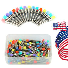 100 300pcs Dental Colorful Nylon Latch Flat Polishing Prophy Brushes Cups Fda
