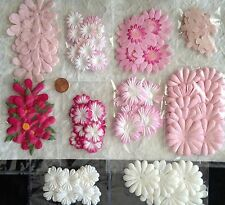129 Flowers Lot assortment flower petals Pink Wedding Handmade Mulberry Paper 1