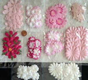 129-Flowers-Lot-assortment-flower-petals-Pink-Wedding-Handmade-Mulberry-Paper-1
