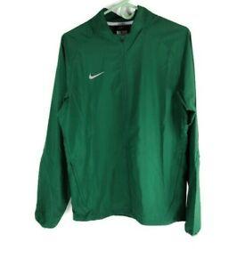 Nike-Running-Swoosh-Mens-Jacket-Small-Green-Full-Zip-Windbreaker-Coat-Activewear