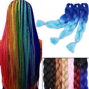 3 Tone Color Kanekalon Hair Crochet Braids Ombre Jumbo Braiding Hair