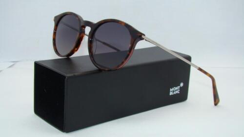 Mont Blanc MB 549 52B Havana Sunglasses CARL ZEISS Grey Gradient Lens Size 49