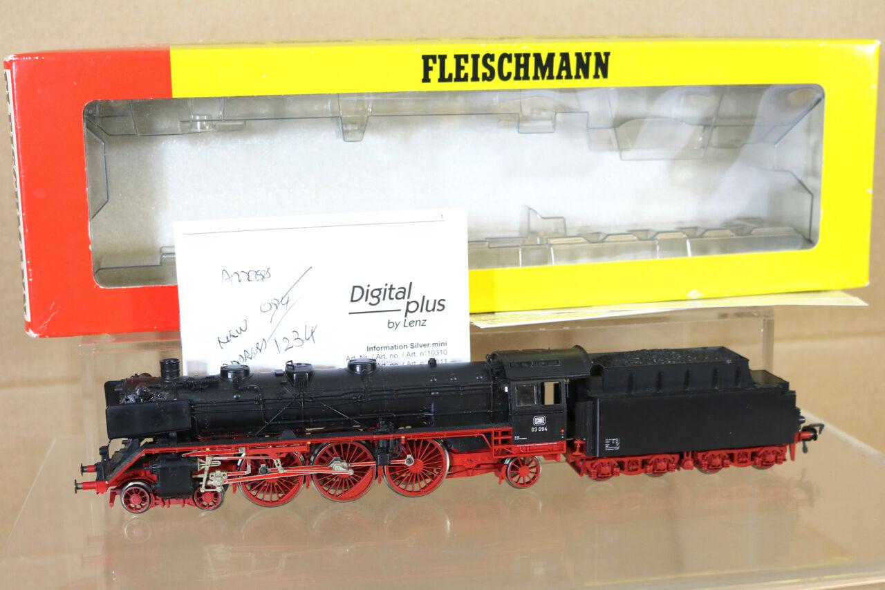 FLEISCHMANN 4103 K LENZ DIGITAL DB 4-6-2 CLASS BR 03 094 DAMPFLOK LOCO BOXED ng