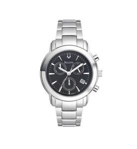 Bulova-Men-039-s-96B199-Stainless-Steel-Chronograph-Watch-NEW