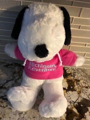 Michigan Adventures Peanuts Snoopy Pink Shirt Plush Stuffed Animal Doll 14 Ebay