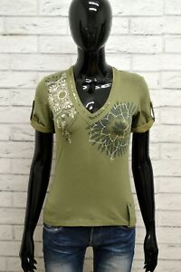 Maglia-GAS-COLLECTION-Donna-Taglia-S-Maglietta-Shirt-Woman-Cotone-Manica-Corta