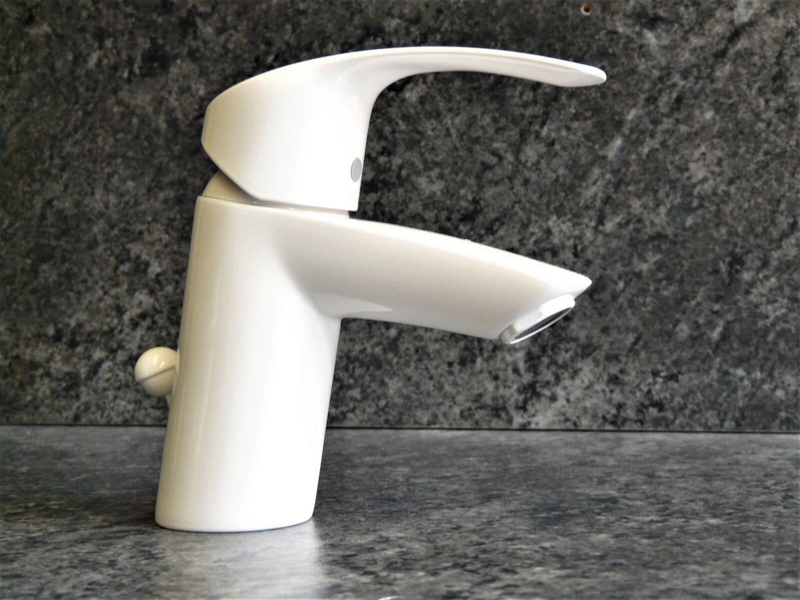 Grohe Eurosmart Waschtischarmatur Weiss (RAL 9010), Einhebelmischer, Wasserhahn