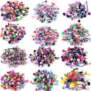 105 pcs wholesale lot tongue rings jewelry