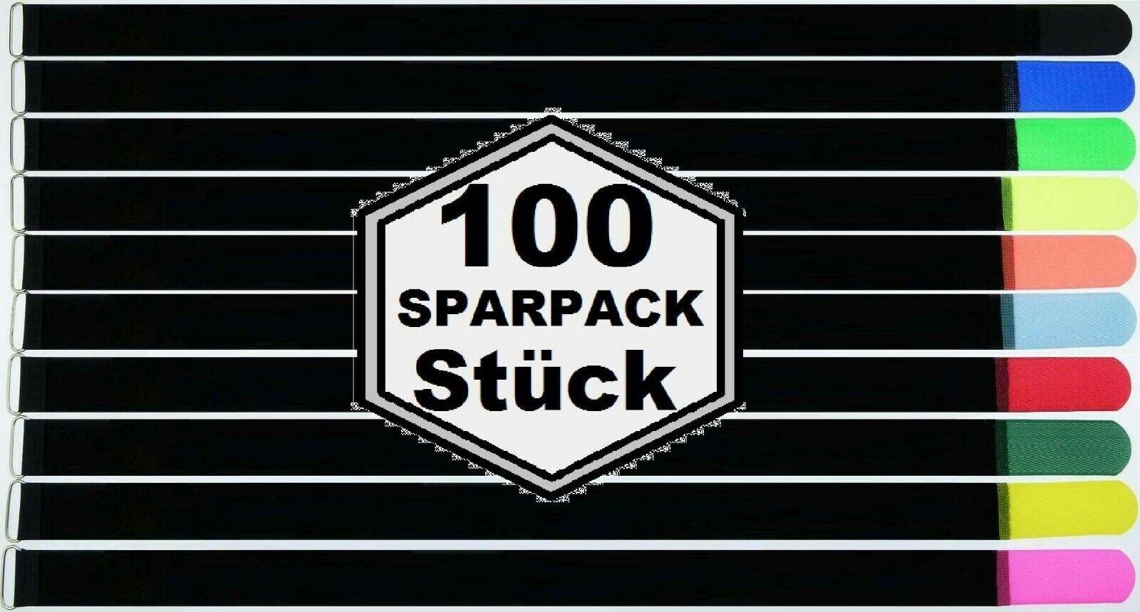 100 x Klettverschlüsse 800 x 50 MM in 10 Farben Kabel Klettverschluss Klettverschluss