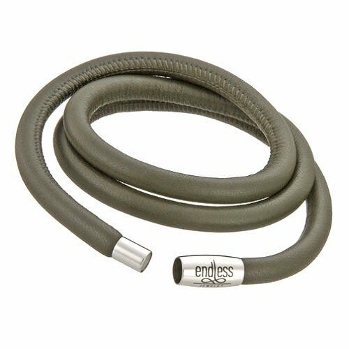 Endless Jewelry 12103-40 Grey Leather 40cm 8.0inch