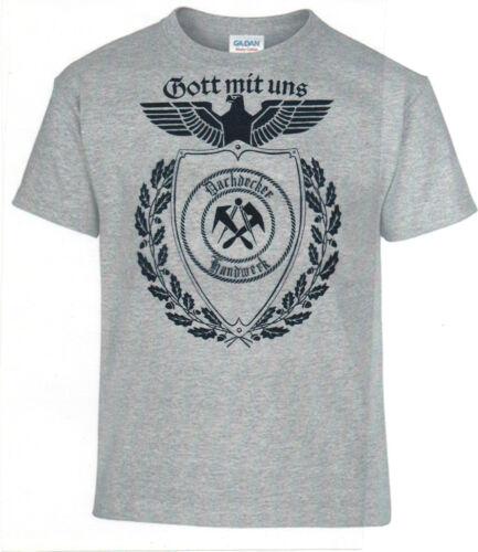 T-Shirt,Dachdecker,Gott mit uns,,Handwerk,Zunft