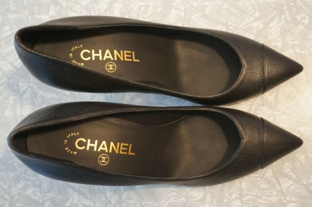 CHANEL Escarpins PUMPS Shoes Black Size