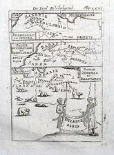 NORTH AFRICA, MOROCCO, ALGERIA, BILEDULGERID Mallet original antique map 1719