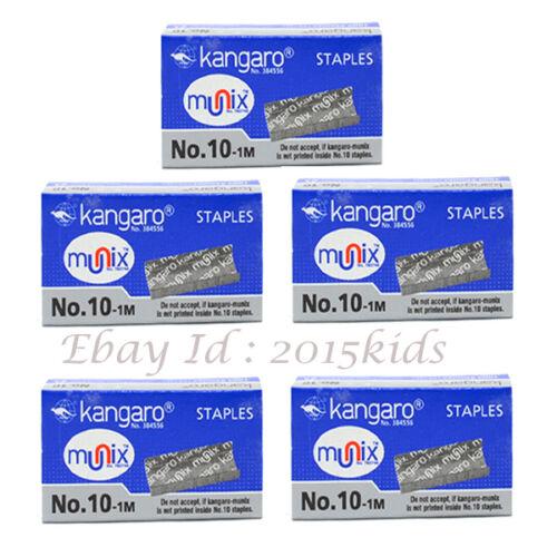 10 X1000 Pins Of Kangaro Klammern Anzahl 10,1M Gute Qualität Metall USA Seller
