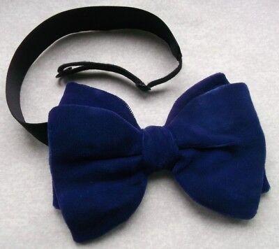 Cravatta A Farfalla Vintage Velluto Da Uomo Retrò Bowtie 1970s Vibrante Blu Regolabile-mostra Il Titolo Originale Design Professionale