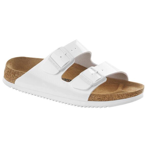 Birkenstock Arizona SL Birko-Flor Sandalee Schuhe WEISS 230224 Weite Normal