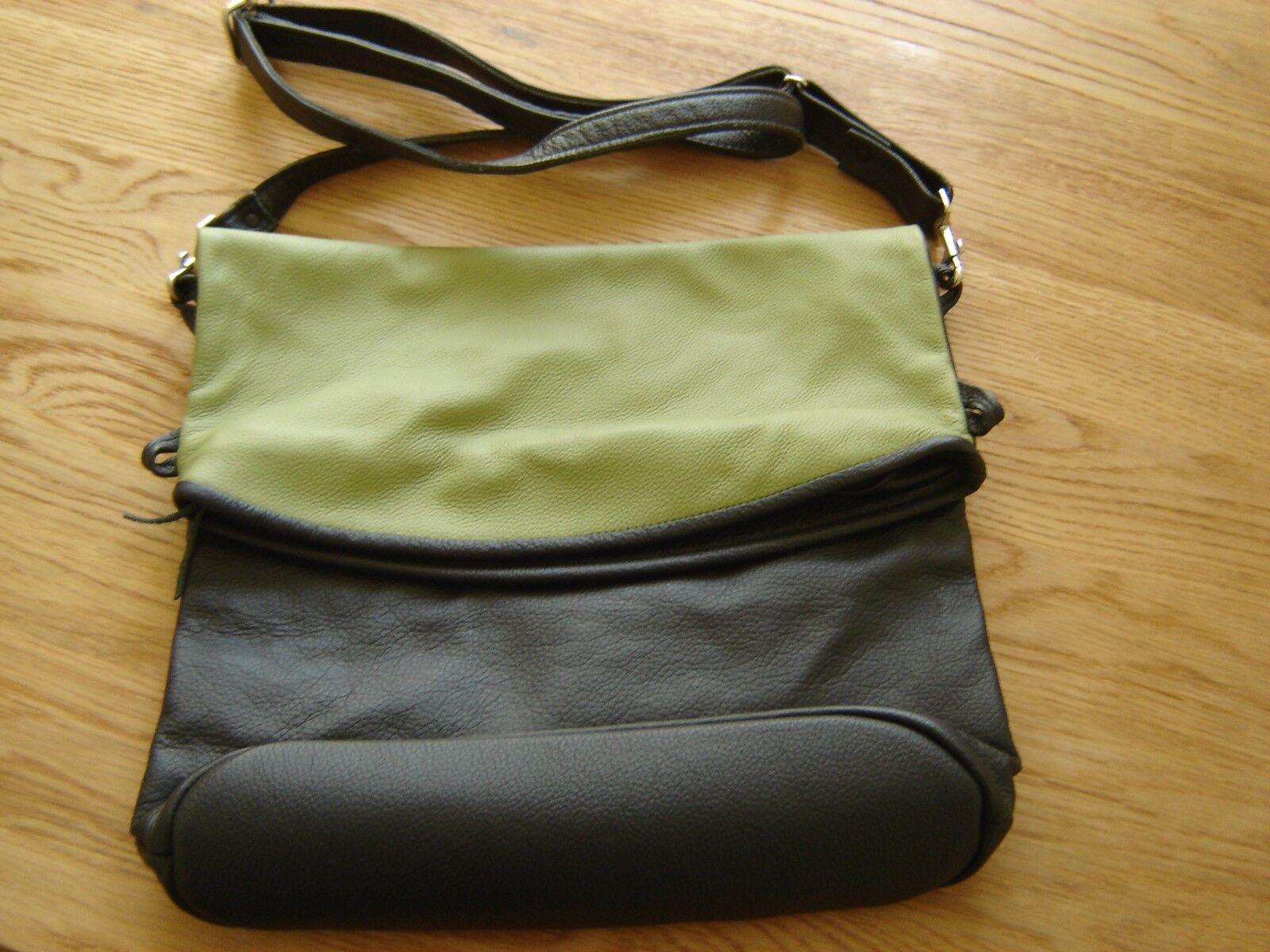 Handtasche   Tasche Leder braun grün 30 48 x 32 cm - NEU - unbenutzt | Online Shop Europe