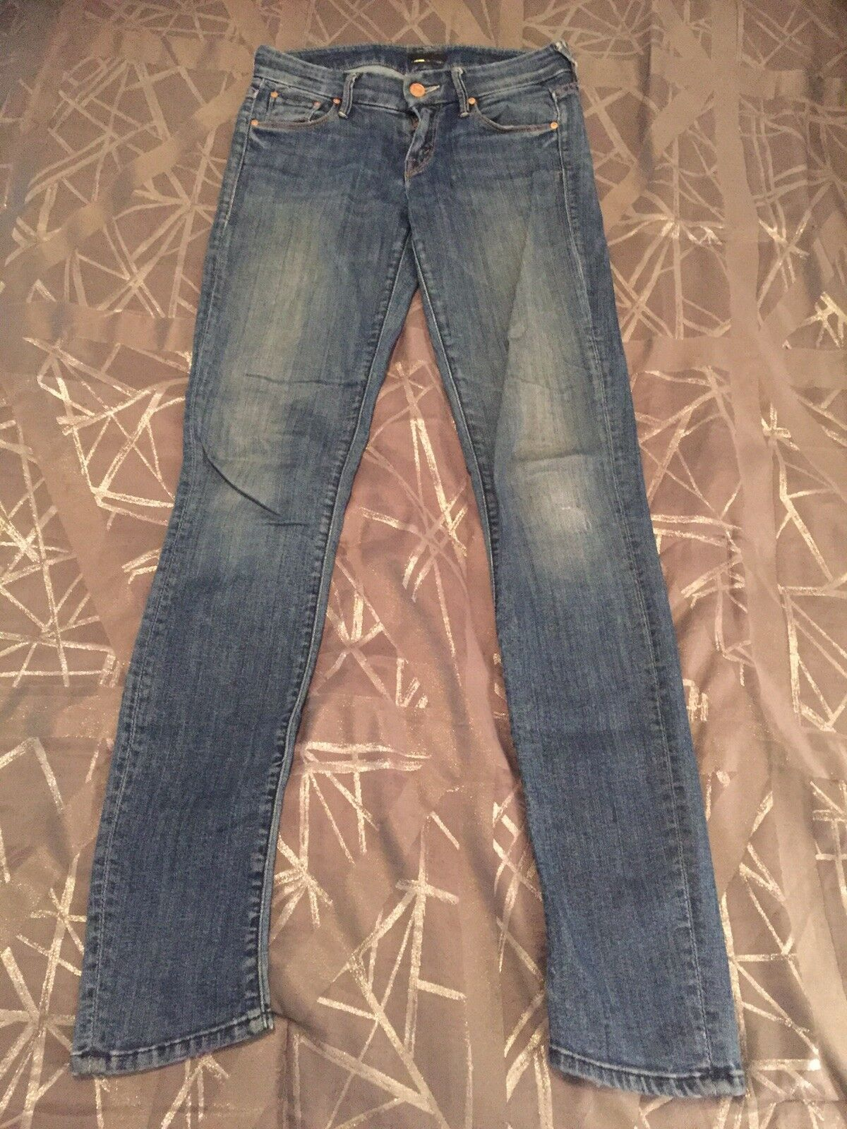 Mother Jeans Womens The Looker Medium Kitty Wash Soft Lightweight Stretch 24