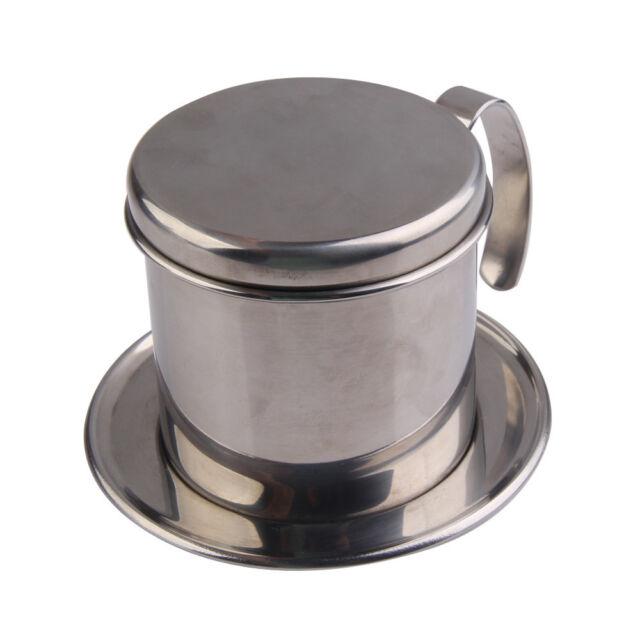 SN9F Stainless Steel Metal Vietnamese Coffee Drip Cup Filter Maker Strainer