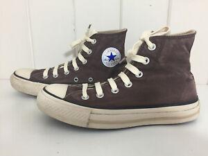 Converse Brown 4 Hi Tops Trainers Cream
