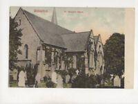 Wolverton St Georges Church 1909 Postcard WJ Hutchinson 426b