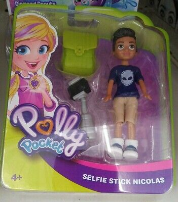 Outfit /& Accessories *NEW* MATTEL POLLY POCKET  Selfie Stick NICOLAS Boy Doll