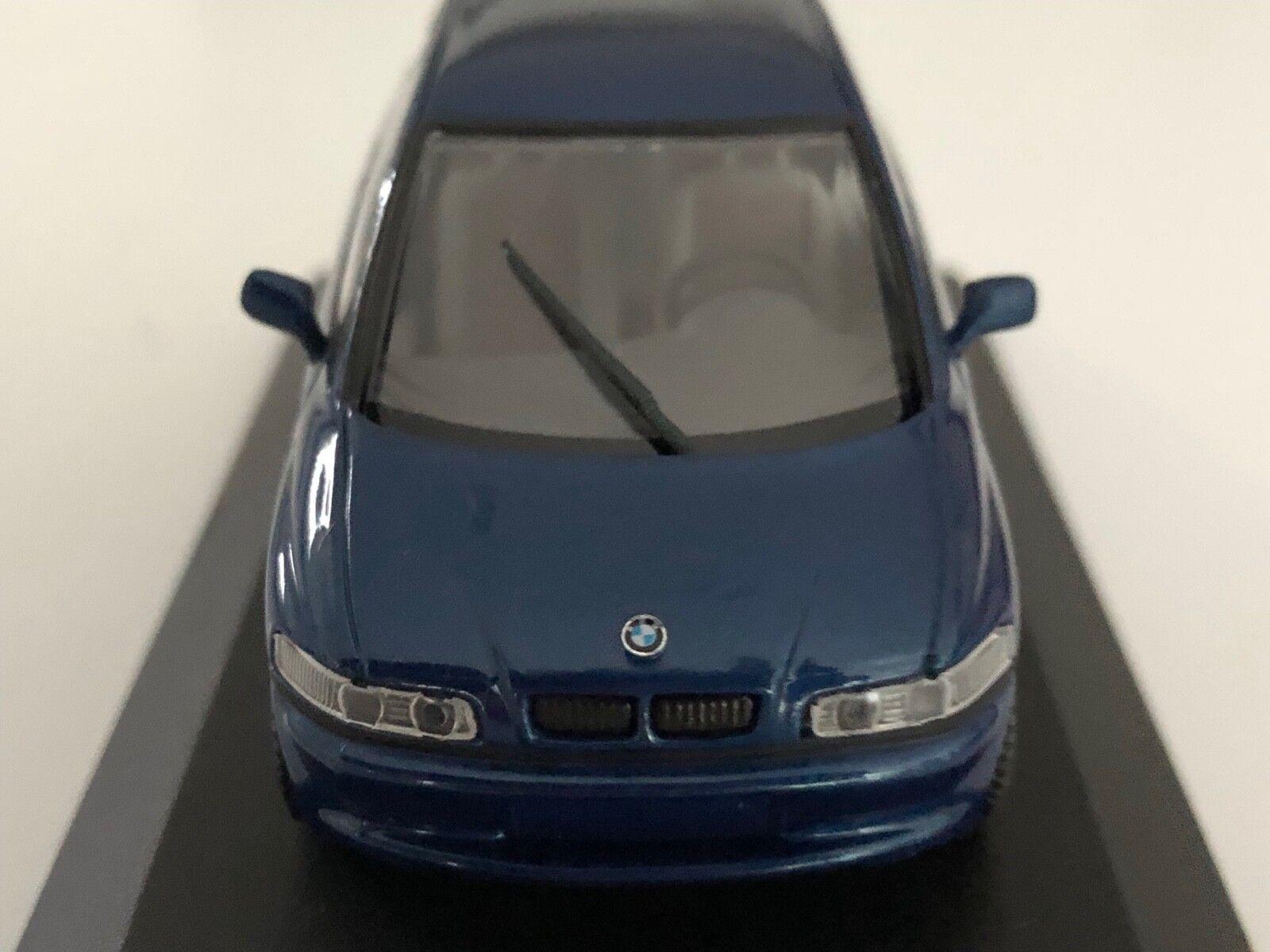 Très rare Paul's Model Art MINICHAMPS BMW E1 coupé en Bleu Foncé Métallisé 1 43