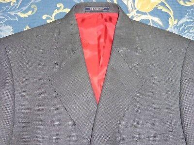 Nuovo Di Zecca! Crombie £ 1200 Cashmere Tweed Giacca Cappotto 38 Pantaloni 31 60s Mod Style-mostra Il Titolo Originale
