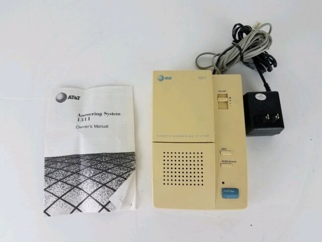 AT&T Remote Answering System Machine #1311 With Microcassette and Manual Tested