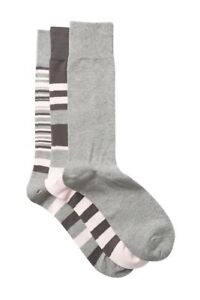COLE-HAAN-Men-039-s-Town-Stripes-Crew-Socks-Pack-of-3-New-Shoe-Sizes-10-12-27-00