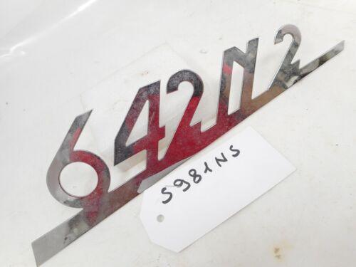 """Emblema o scritta con 3 perni di fissaggio /""""642N2/"""" per Fiat Iveco 642N2"""