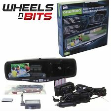 Grinding Rear View Mirror Wireless Camera Parking System Kit Screen & Camera