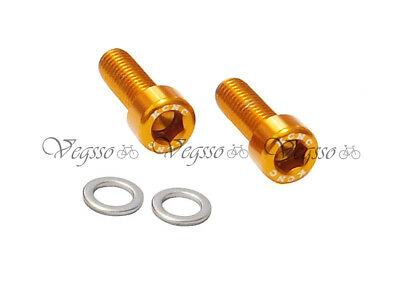 Gold Moderate Cost Lovely New Kcnc Water Bottle Cage Bolts Screws M5x15mm Al7075-2pcs Bolts & Fasteners