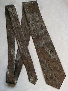 Vintage Cravate Dunn & Co Homme Cravate Rétro Fashion Dark Gold-afficher Le Titre D'origine AgréAble à GoûTer