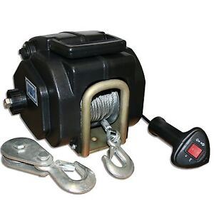 Boat winch electric rope winch winch 12v 12 volt vor for Boat lift motors 12 volt