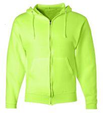 Mens Heavy Cotton Zipper Zip Hood Hoodie Solid Plain Blank Pockets Sweatshirt