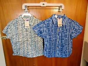 Lot-Of-2-Baby-Boys-034-NWT-034-Angels-Flight-Size-2T-Button-Down-Shirts-034-BEAUTIFUL