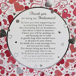 thank you to my bridesmaid card large bridesmaid card ebay