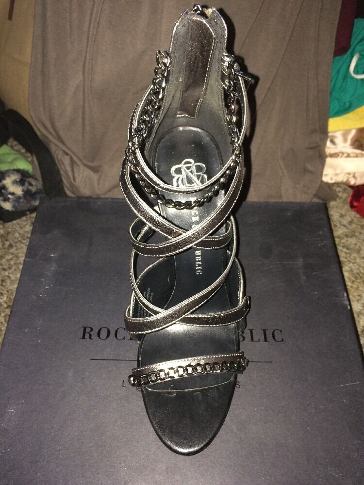 Rock & Republic Romy Heels In Pewter
