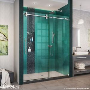 Enigma Xo 50 54 In W X 76 In H Fully Frameless Sliding Shower Door Ebay