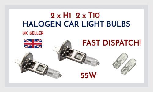 FITS SEAT LEON 2 x H1 501 W5W FRONT HALOGEN CAR LIGHT BULBS 55W CLEAR HEADLIGHT