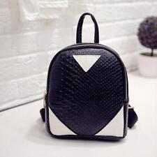 Women Canvas Rucksack concise Serpentine Backpack School Book Shoulder Bag