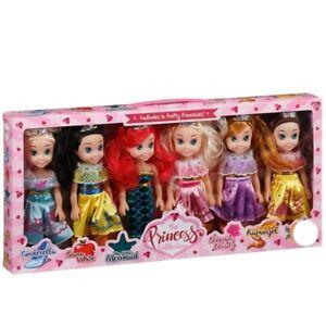 The-Pretty-Princesse-Poupee-Collection-Ensemble-De-6-Disney-Poupees-20cm-Grand