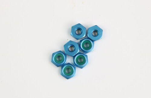 LOSA 6305 7 A6305 Team Losi XX XXT anodisé en aluminium bleu 4-40 Profil Bas Écrou