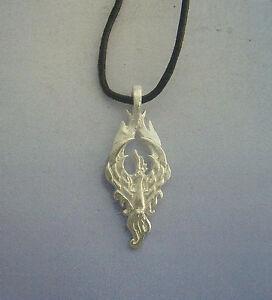 Phoenix-silver-pendant-charm-necklace-phenix-pendentif-argent-Phonix-Anhanger