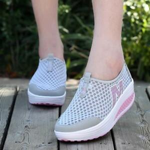 Chic-Women-039-s-Breathable-Mesh-Platform-Sneakers-Fitness-Trainers-Sports-Shoes-LG