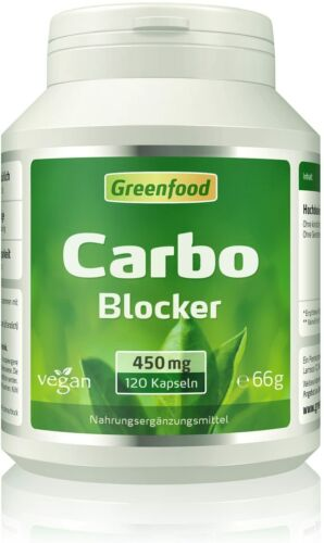Greenfood Carbo Blocker White Kidney Extrakt reich an Phaseolin 450 mg 120 St.